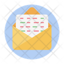 Open Email Business Document Cv Icon
