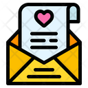 Open Email Love Letter Heart Icon