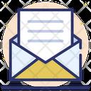 Open Envelope Mail Written Correspondence Icon