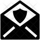 Open Envelope Security Shield Icon