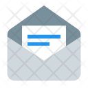 Open Envelope Mail Icon