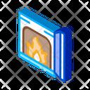 Open Fire Stove Icon
