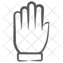 Open Hand Five Fingers Palm Icon