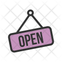 Open Tag Hanging Icon