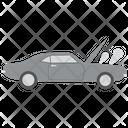 Open Hood Car Bonnet Engine Cap Icon