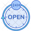 Open Hours Customer Service Full Time Service Icon