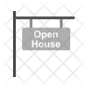 Signboard Open House Icon