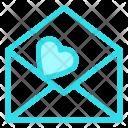 Open Love Letter Icon