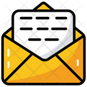 Open Message Text Opened Envelope Icon