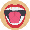 Open Mouth Body Dental Icon