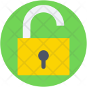 Safety Open Padlock Icon