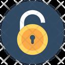 Safety Open Padlock Unlocked Icon