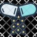 Open Pill Capsule Painkiller Icon