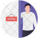 Open Shop We Are Open Shop Timing Icon