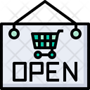 Open Open Board Open Sign Icon