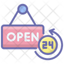 Open Shop Open Signboard Icon