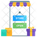 Open Shop Mcommerce Shopping App Icon