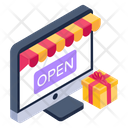 Ecommerce Online Shop Open Shop Icon