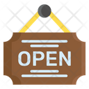 Open Shop Label Icon