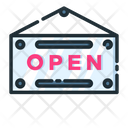 Open Sign Open Sign Board Sign Board Icon