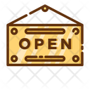Open Sign Board Sign Board Board Icon