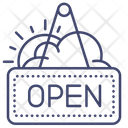 Open Sign Board Icon