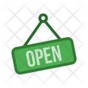 Open Tag Signboard Icon