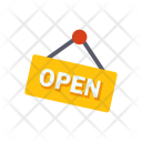 Open Signboard Sign Icon