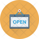 Open Sign Hanging Icon