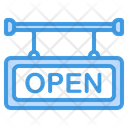Open Signboard Open Sign Icon
