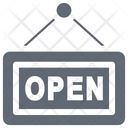 Open Shop Open Signboard Hanging Sign Icon