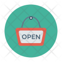 Open Signboard Shop Icon