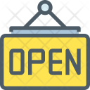 Open signboard Icon