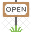 Open Sign Signboard Icon