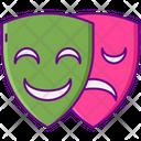 Opera Mask Drama Mask Comedy Mask Icon