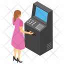 Operating Atm Machine Instant Banking 24 Hour Banking Icon