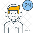 Operator 24 Hours Call Center Icon