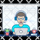 Operator Consultant Skilled Person Icon