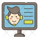 Monline Help Online Support Customer Care Officer Icon