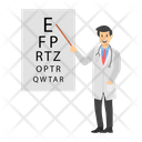 Ophthalmologist Examination Eye Test Vision Test Icon