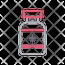 Opioids Syringe Bottle Icon