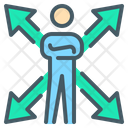 Arrows Choose Opportunity Icon