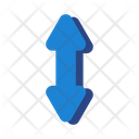 Opposite Arrows Map Pin Icon