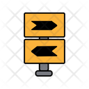Opposite Direction Board Icon