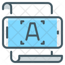 Optical Character Reading Icon