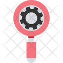 Optimization Magnifier Search Settings Icon