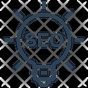 Seo Optimization Bulb Light Icon