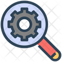 Seo Magnify Glass Gear Icon