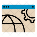 Obtimize Optimization Web Website Globe Gear Seo Seo Web Icon