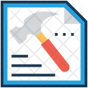 Optimization Hammer Technical Icon